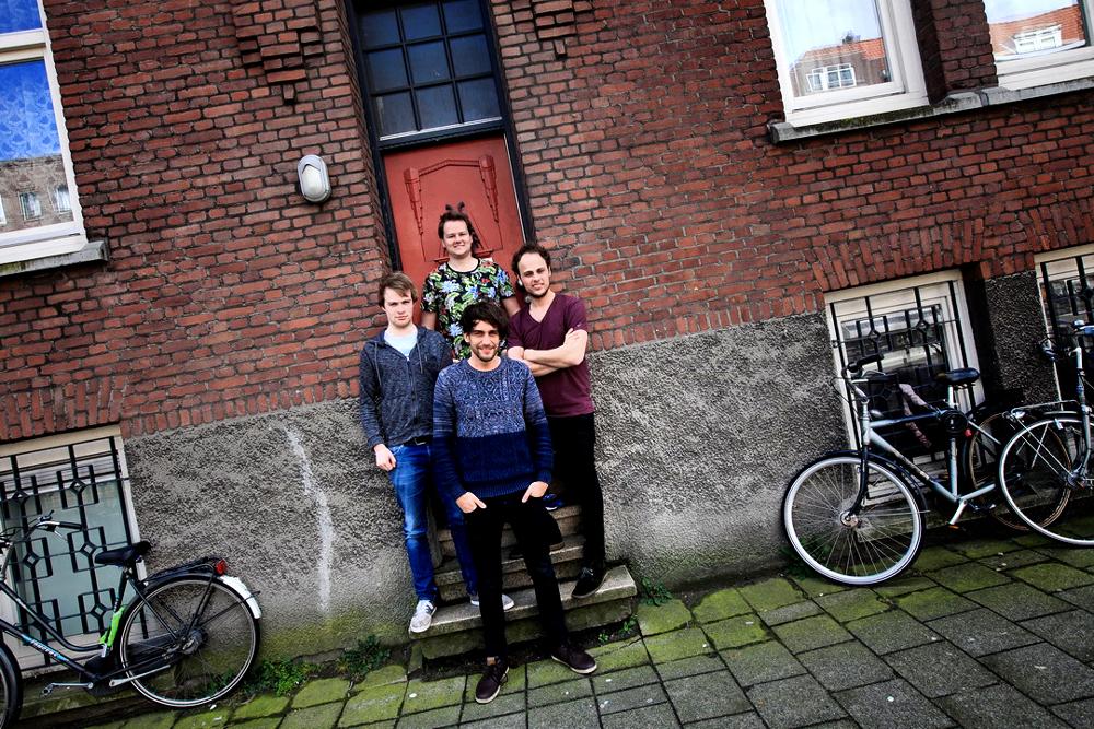 Rick van der Ouw, Maurice Slot, Thijmen Oberink en Ruud van Halder vormen samen Marutyri.