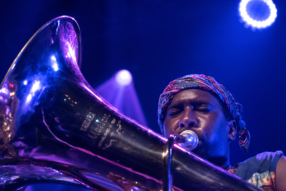 Sons-of-Kemet_Oren-Marshall_Tuba_Transition-2018-Foto-Sophie-Conin TRANSITION Festival 2018: FEEST VAN TRAPPEN EN JAZZ