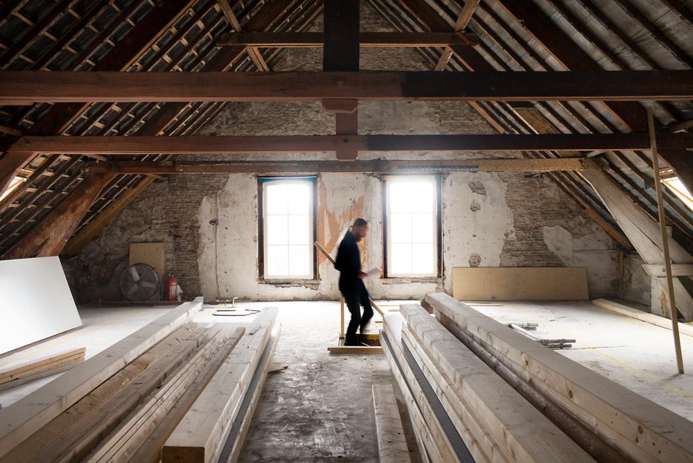De zolderverdieping van Paradox komt volgend jaar aan de beurt om er ook broedplaatsen in te richten.