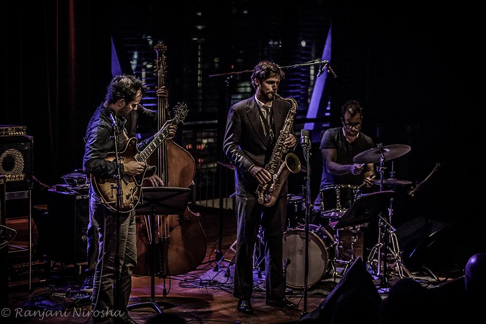 Trio Jesse van Ruller met gast Gideon Tazelaar op tenorsaxofoon.