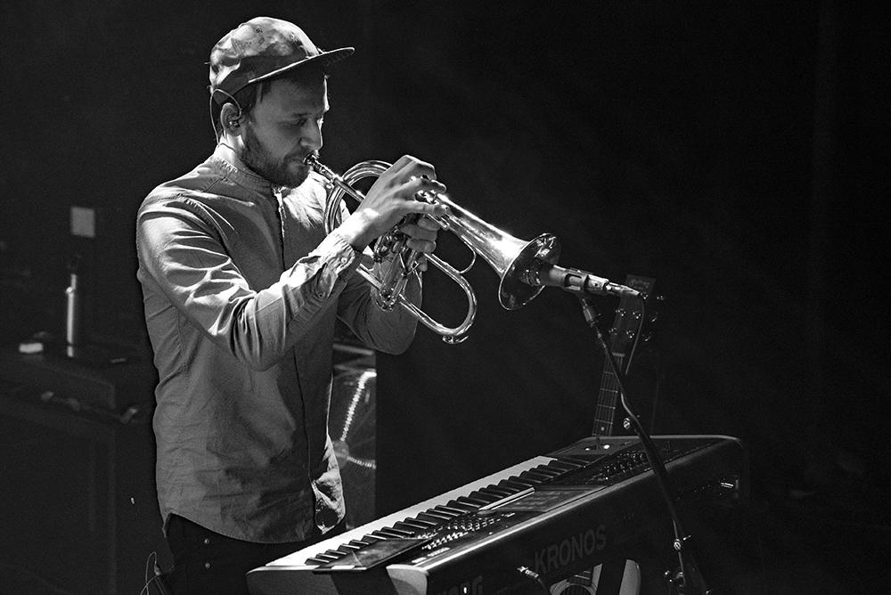 Multi-instrumentalist Andris Mattson van Moonchild.