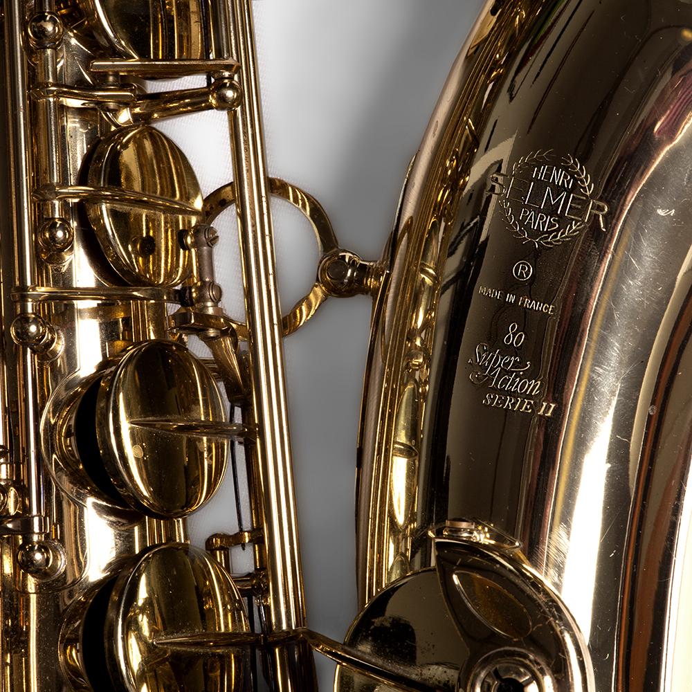 De tenorsaxofoon van Ties Mellema is een Selmer Super Action Serie II uit 1996.