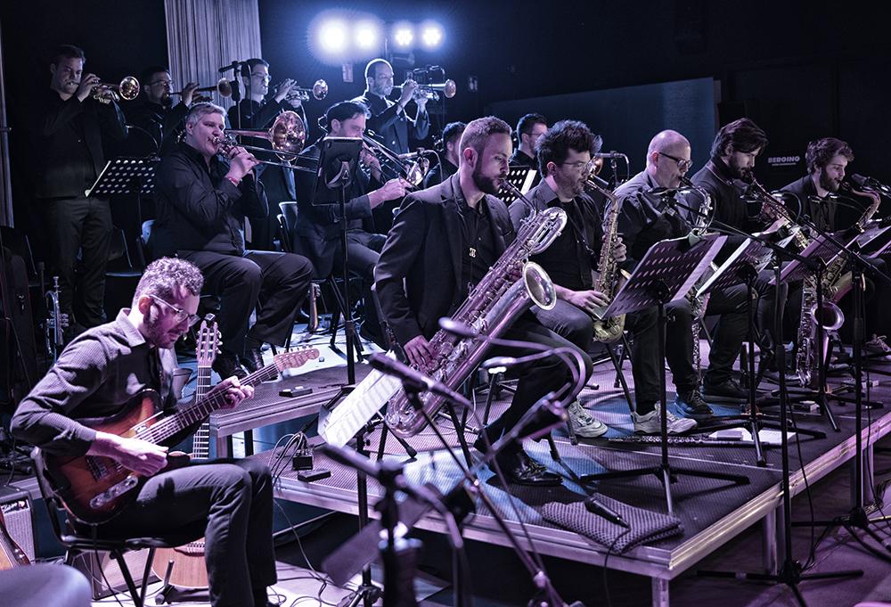 WE-Big-Band-concert.-Foto-Jeanschoubs Gloedvolle geboorte van de WE Bigband in Bilzen