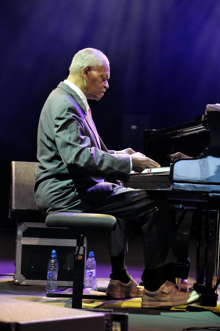 McCoy Tyner speelde op Gent Jazz in 2017.
