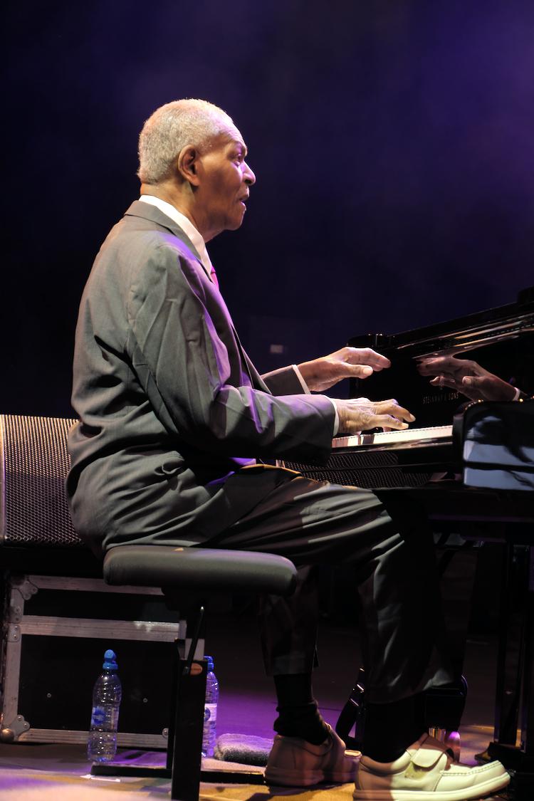 McCoy Tyner was in 2017 te gast tijdens Gent Jazz 2017.