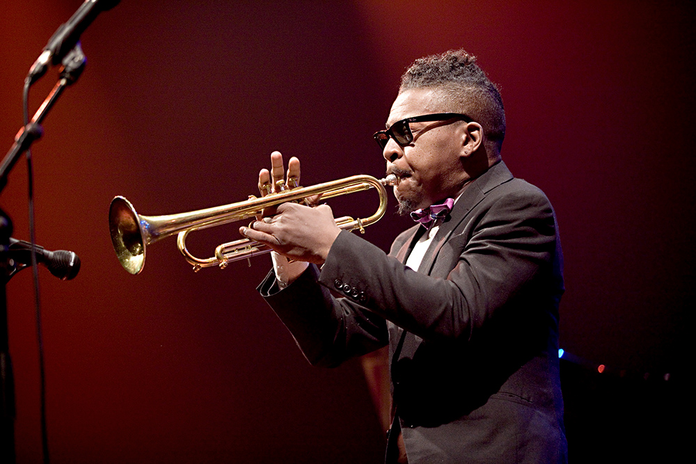 Roy Hargrove in 2017 op het Brussels Jazz Festival in het Flagey Theater. Foto Tom Beetz