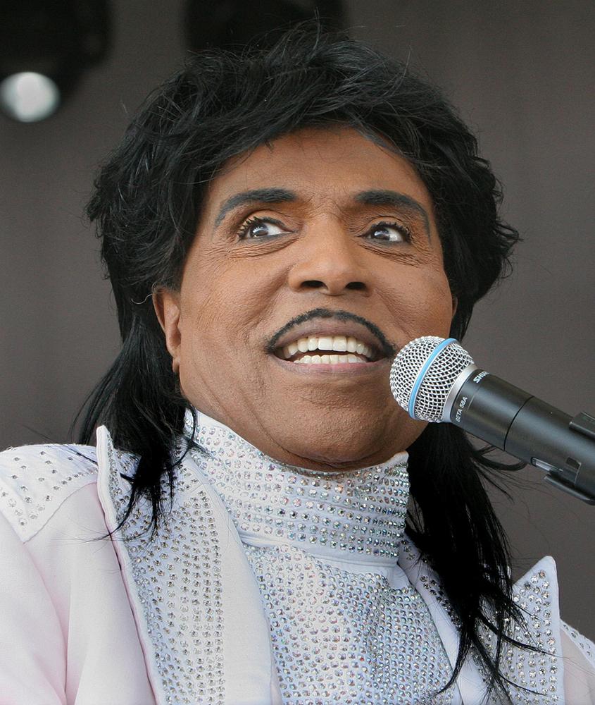 Little Richard tijdens het Florida Strawberry Festival in Plant City, maart 2007. Foto Michael Wilson