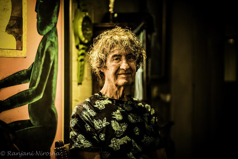 """Polo de Haas: """"Ik zit thuis zoals ik altijd thuis zit. Ik zit altijd in quarantaine – met plezier."""" Foto Ranjani Nirosha"""