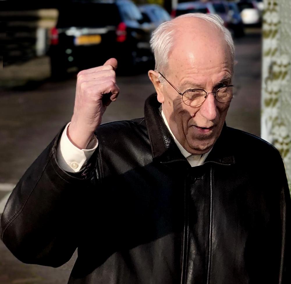 Simon Korteweg op 80-jarige leeftijd. Foto privébezit