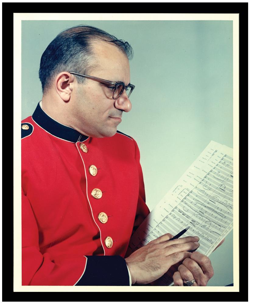 Sammy Nestico, chef arrangeur van de US Marine Band aan het Witte Huis in Washington. Foto Amanda Simmons