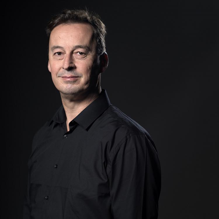 Bart Noorman is bedenker van de Virtual Music School. Foto Amsterdam Big Band