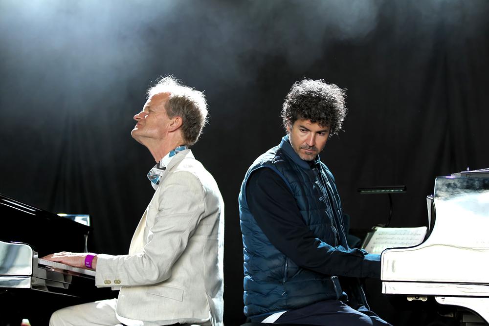 Bert van den Brink en Nicola Andrioli speelden een soort quatre-mains op afstand.